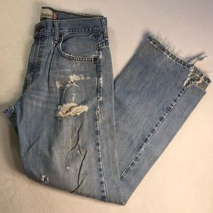 Levi's 569 30x30 Loose Straight Destroyed Jeans